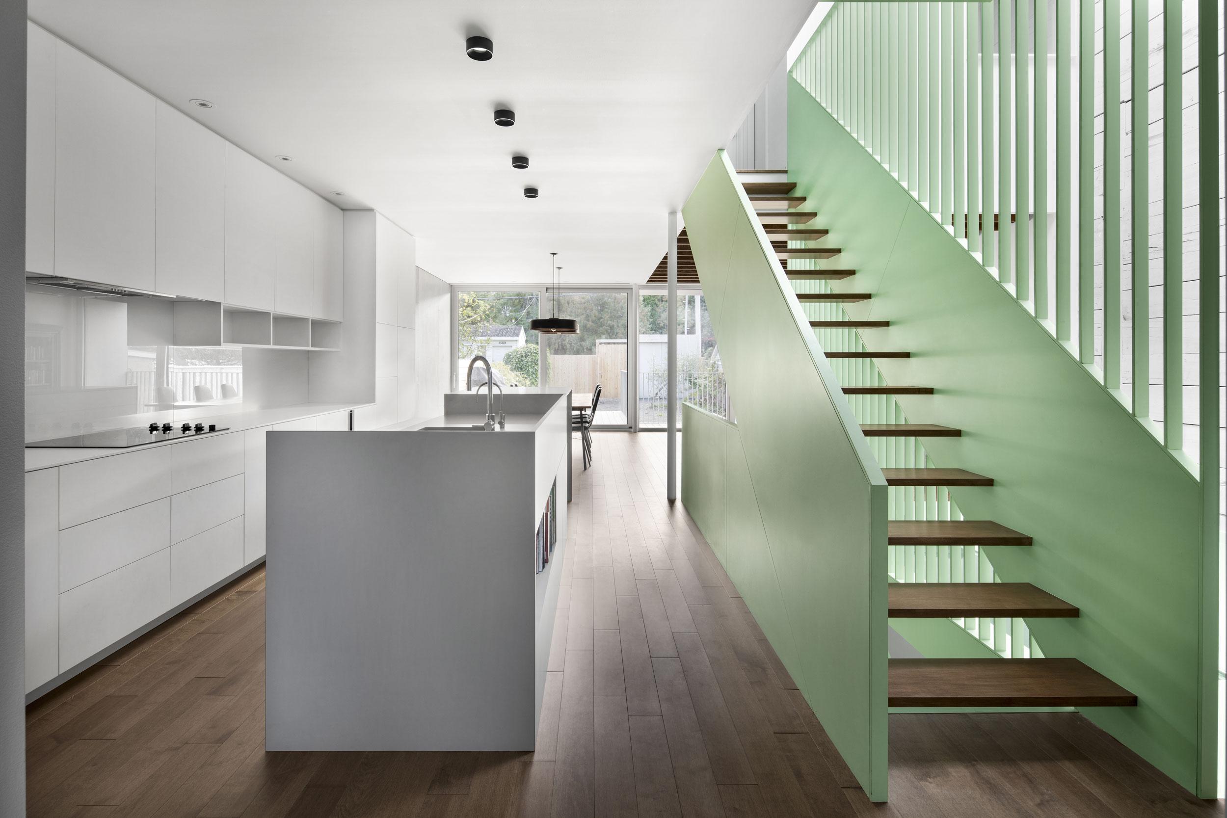 Métaux ouvrés et structures d'acier / Escalier du projet de la Résidence Victoria